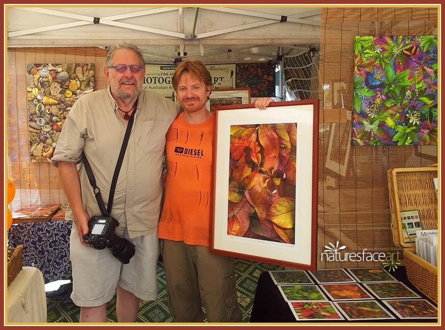 Steve Parish and Gerhard Hillmann at the markets Port Douglas, qld Australia