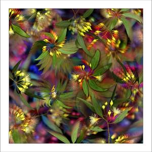 fp104. Flowering Sunbird Fabric Patch