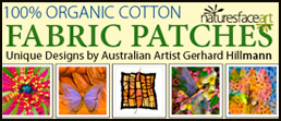 Organic Cotton Fabric Patches by Gerhard Hillmann