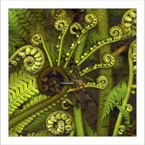 fp227. Dragonfern fabric patch by Gerhard Hillmann