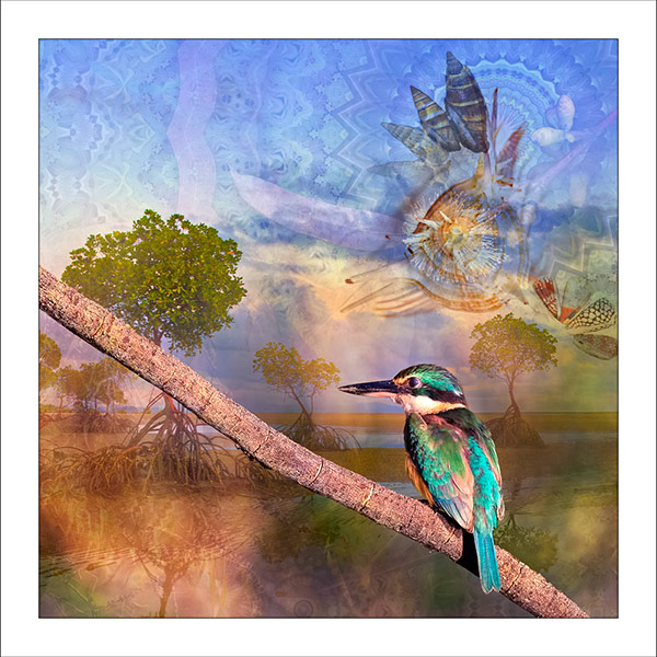 fp246. Kingfisher Tide fabric patch by Gerhard Hillmann