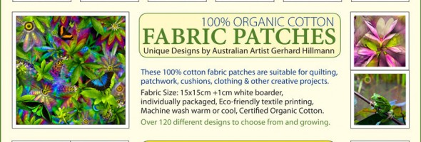 Free Postage Worldwide..Fabric Patches…2 Days only