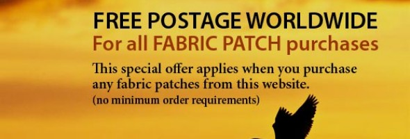 FREE POSTAGE WORLDWIDE for Fabric Patches