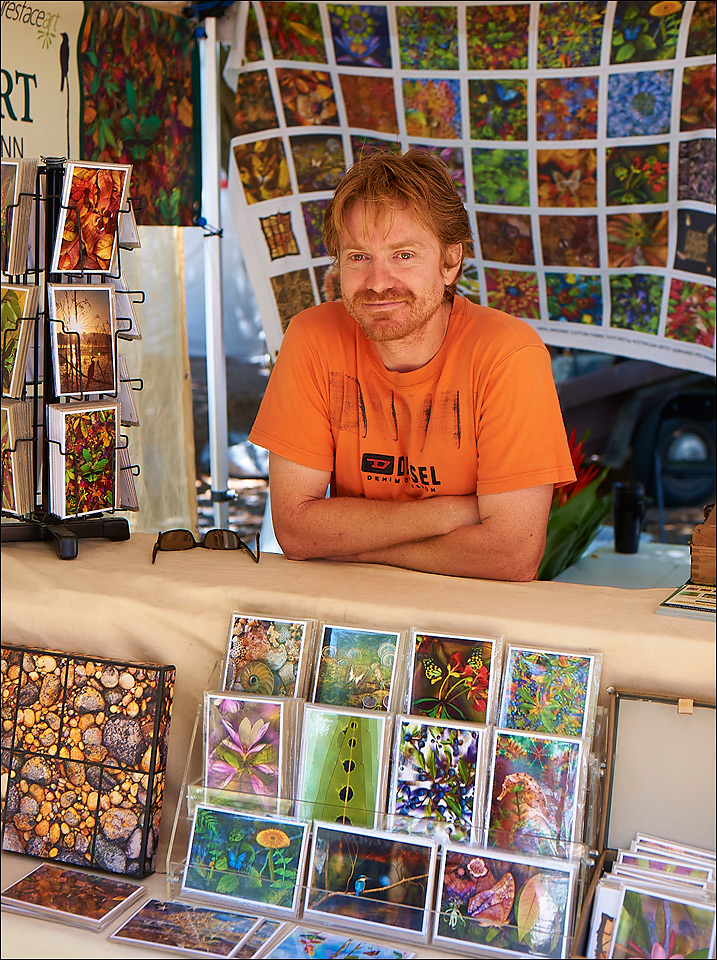 Visit me at my gallery market stall at Esplanade markets and the Port Douglas markets.