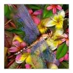 fp42. Dragonfly Fabric Patch