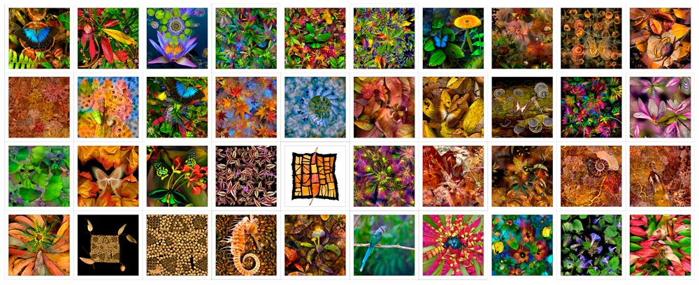 Cotton Fabric Patches / Squares 6x6inch by Australian Artist Gerhard Hillmann
