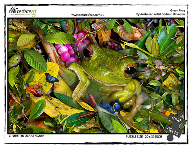 Green Treefrog Jigsaw Puzzle (1000 pieces)